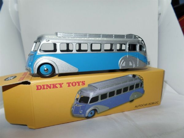 Atlas Norev French Dinky 29E Autocar Isobloc Bus Coach Silver & Blue